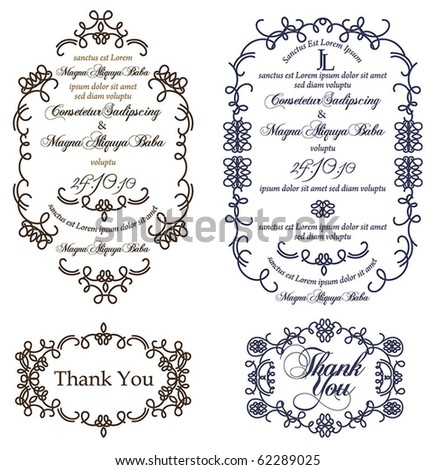 Elegantly Framed - stock vector