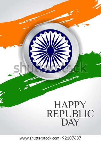 elegent background for Republic Day. - stock vector