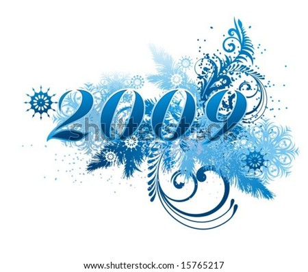 element for design - New Year background - stock vector