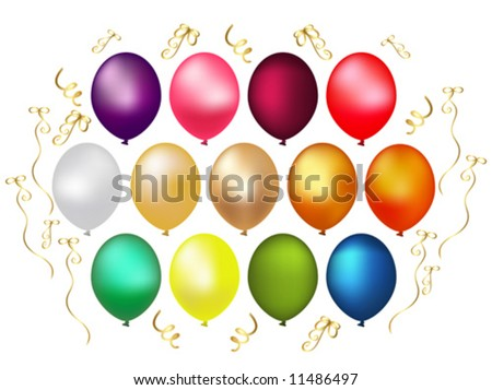 Element for your design balloon.  Vector illustration.