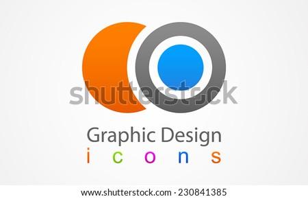 Element logo graphic design - stock vector