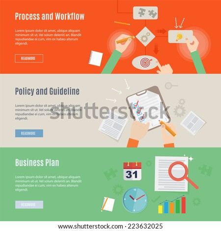 Element of business work concept icon in flat design - stock vector