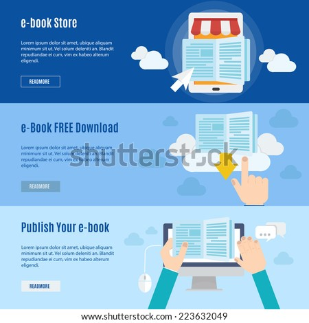 Element of ebook icon in flat design  - stock vector
