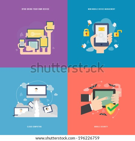 Element of mobile technology concept icon in flat design  - stock vector
