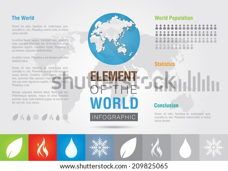 Element of the world. Icon symbol signage Info graphic. Creative Marketing. Business SUccess - stock vector