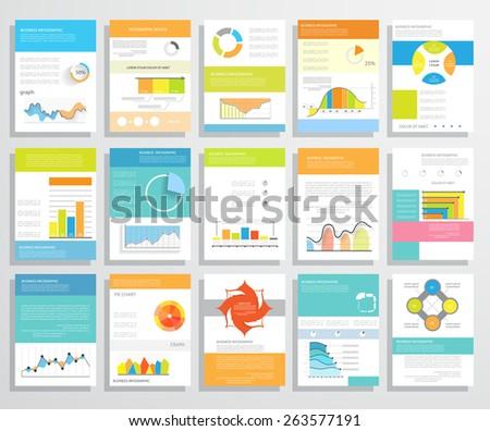 Flyer Infographics Brochure Templates Vector Illustrations Stock ...