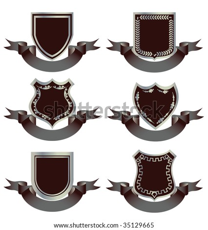 Elements for creating logos and medals. - stock vector