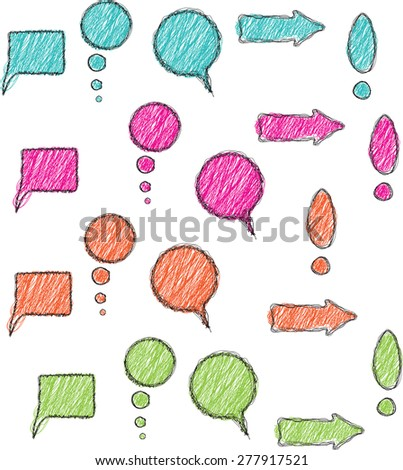 Elements for infographics in doodle style - stock vector