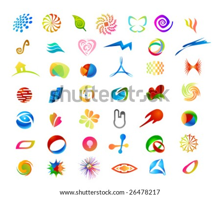 Elements for print and web usage - stock vector