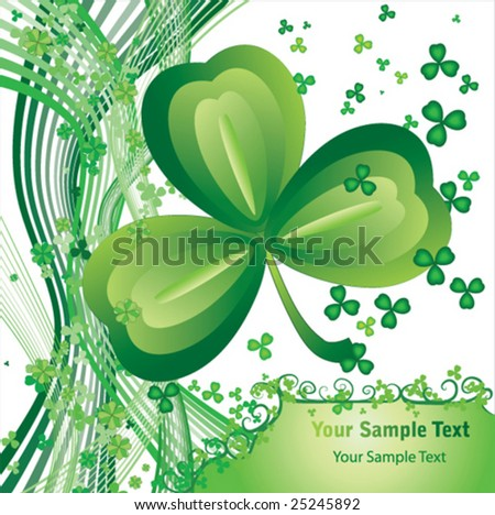 Elements for your design. The vector illustration contains the image to St. Patrick background - stock vector