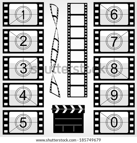 Elements of cinema - stock vector
