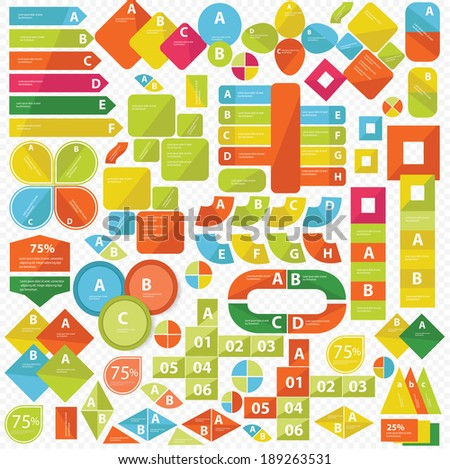Elements of Infographics,Colorful version,vector