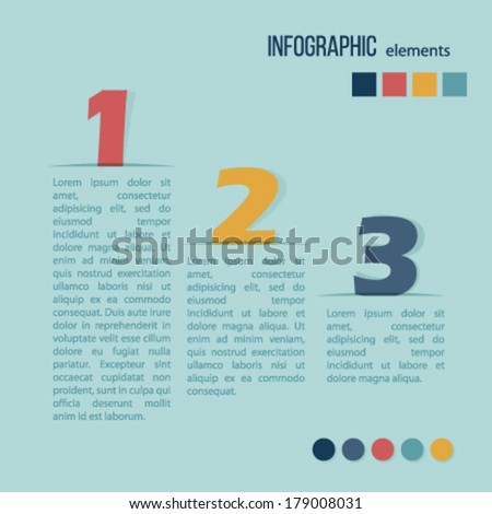 Elements of infographics. Vector illustration.