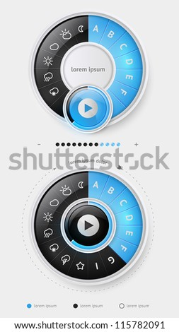 Elements of Infographics with buttons and menus - stock vector