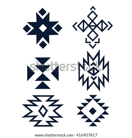 Elements Tribal Ornament Hipster Logo Aztec Stock Photo Photo