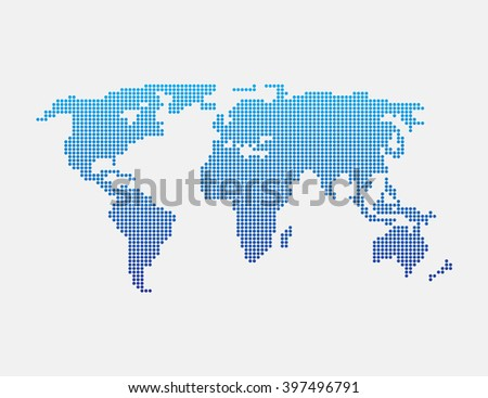 elements Vector world map