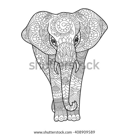Elephant Outline Stock Images Royalty Free Images