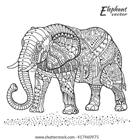 Vector Rhinoceros Illustration Polygon Shape Line Stock