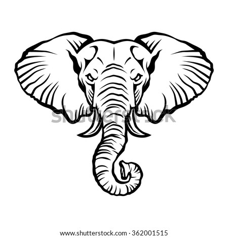 elephant head stock vector 362001512 - shutterstock