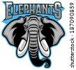 elephant head mascot - stock