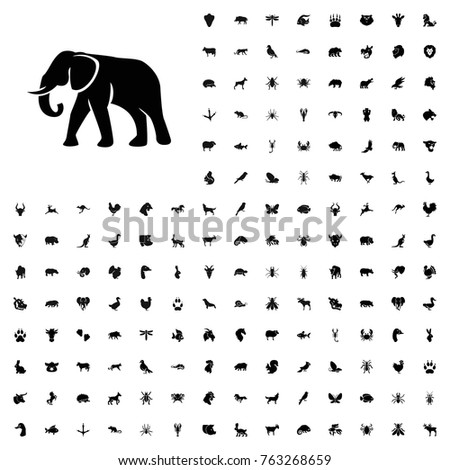 Elephant icon illustration isolated vector sign symbol. animals icon set for web and mobile.