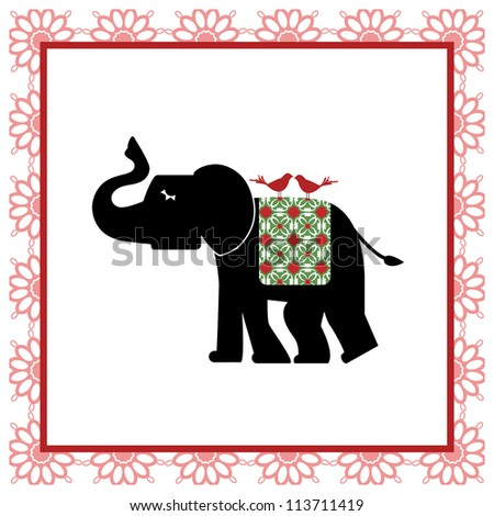 Elephant tapestry (full background behind)