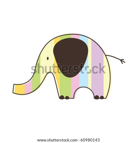 Elephant vector - stock vector