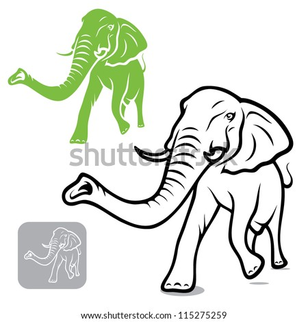 Thai Elephant Vector Elephant Vector Illustration