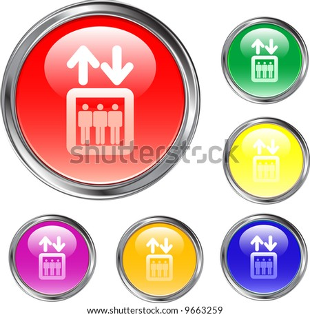 Elevator Buttons - stock vector