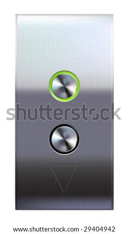 Elevator buttons  (#4 of 4) • Find more elevator panels  in my portfolio • - stock vector