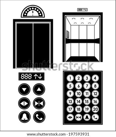 Elevator design over white background, vector illustration - stock vector