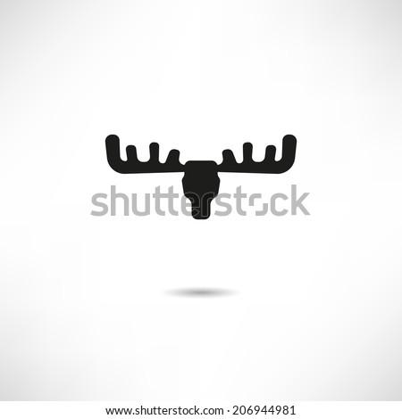 Elk icon - stock vector