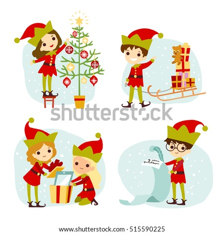 Santas Elves Stock Images, Royalty-Free Images & Vectors ...