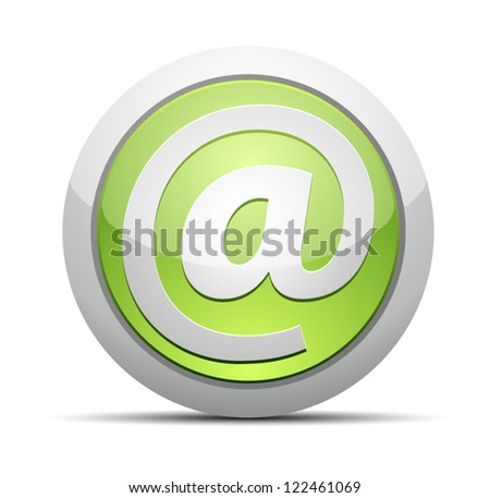 Email button - stock vector