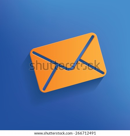 Email design on blue background,clean vector - stock vector