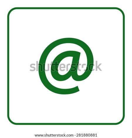 Email emblem icon, vector illustration. Flat design style - stock vector