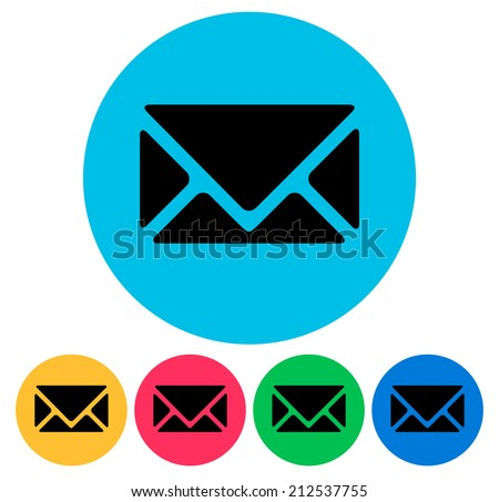 Email, envelope, contact vector icons - stock vector