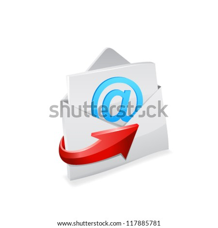 Email envelope. Vector