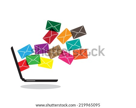 email from Notebook - stock vector