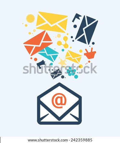 email icon design, vector illustration eps10 graphic  - stock vector
