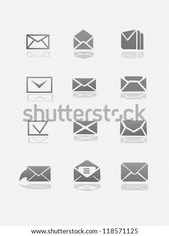 email icon Set  (vector) High detailed - stock vector