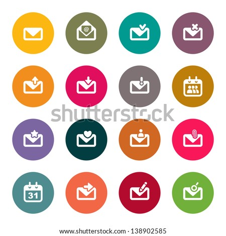 Email icons - stock vector