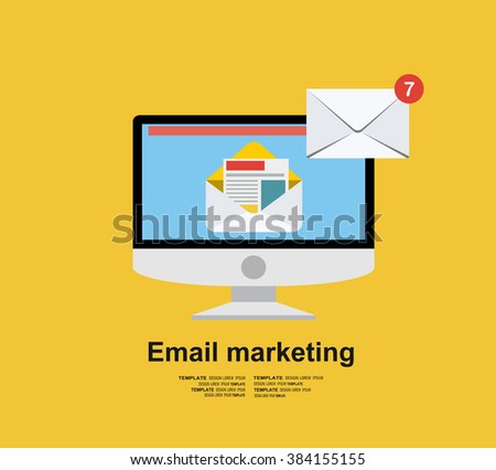 Email illustration. Sending or receiving email concept illustration. flat design. Email marketing. - stock vector