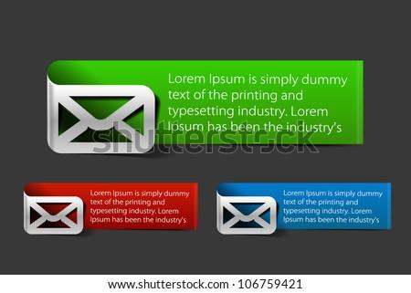 Email mark banner design. Vector. - stock vector