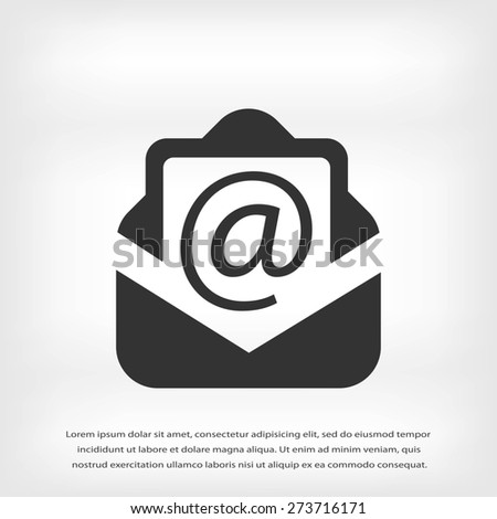 Email message flat icon - stock vector