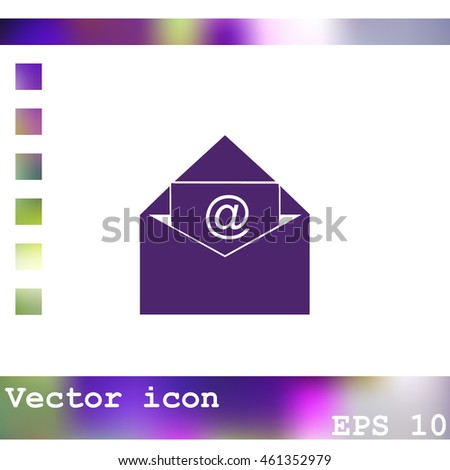 Email message vector icon