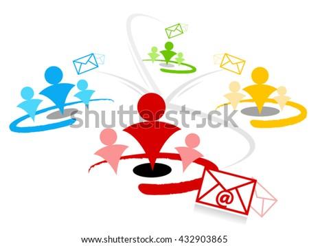 email newsletter segmentation - stock vector