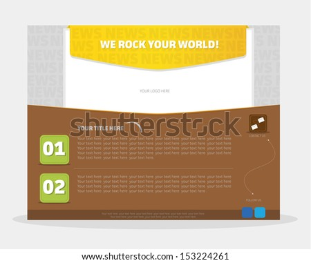 Email Newsletter Template - stock vector