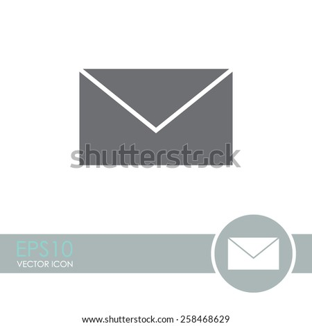 Email vector icon. - stock vector