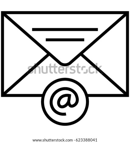 email vector icon stock vector 623388041 shutterstock rh shutterstock com email vector icon free email icons vector free download